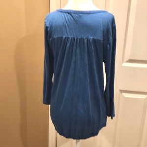 Lucky Brand Tops - Lucky Brand blue top w/ embroidery detail size: M